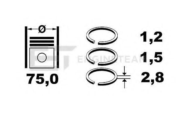Кольца поршневые комплект ET ENGINETEAM R4000100