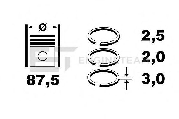 Комплект поршневых колец ET ENGINETEAM R4001150