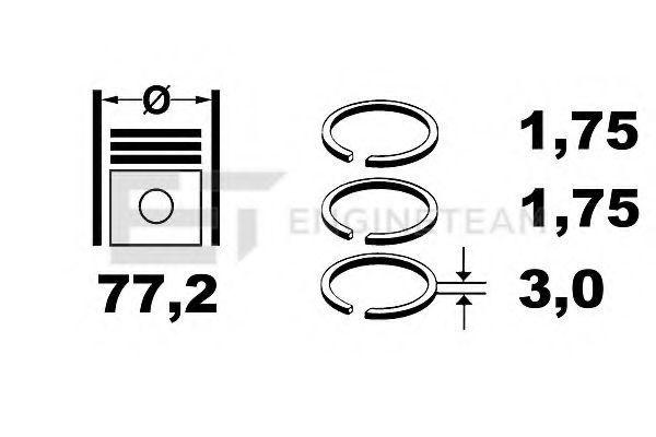 Комплект поршневых колец ET ENGINETEAM R4001700