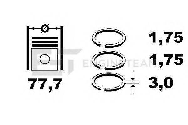 Комплект поршневых колец ET ENGINETEAM R4001750