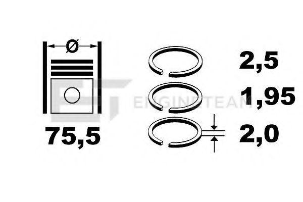 Комплект поршневых колец ET ENGINETEAM R1009350