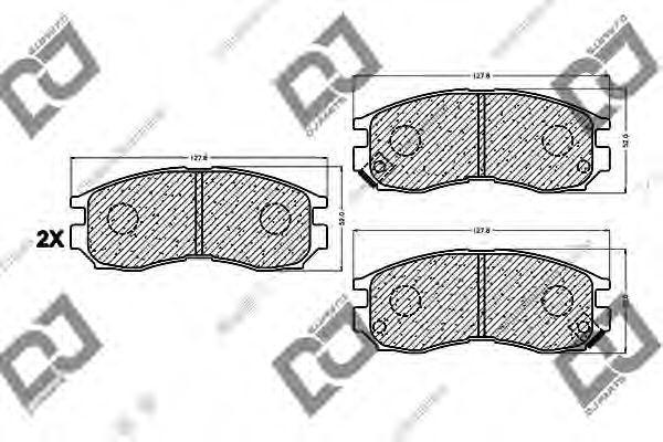 Комплект тормозных колодок, дисковый тормоз DJ PARTS BP1020