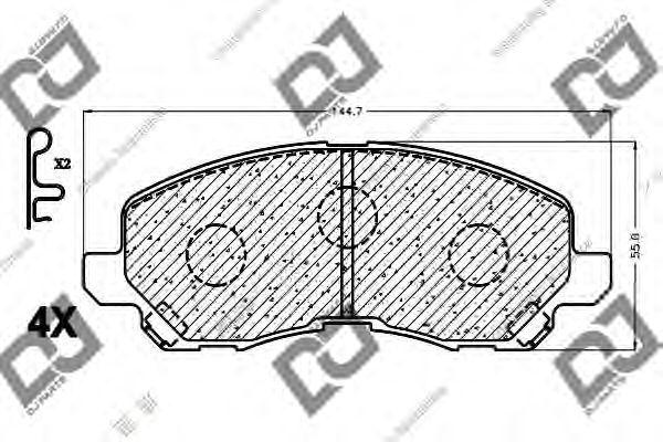 Комплект тормозных колодок, дисковый тормоз DJ PARTS BP1151