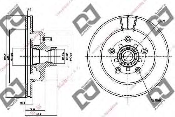 Тормозной диск DJ PARTS BD1220
