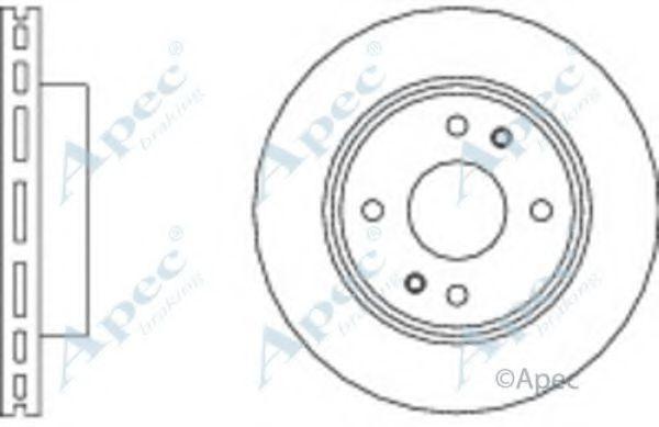 Тормозной диск APEC braking DSK2972