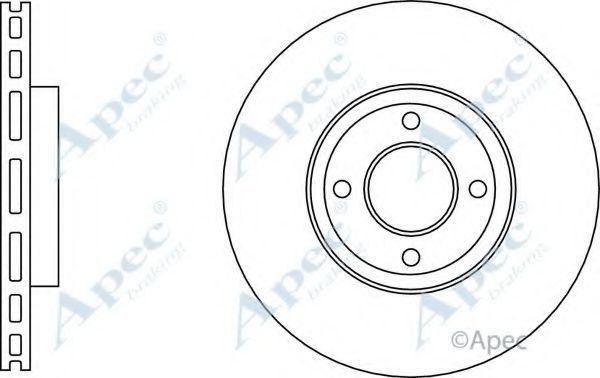 Тормозной диск APEC braking DSK3118