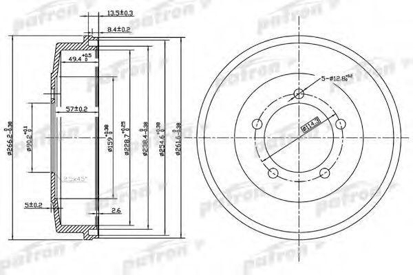 Тормозной барабан PATRON PDR1002