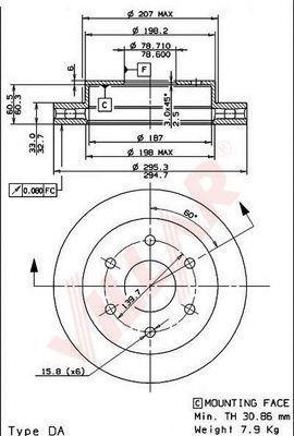 Тормозной диск VILLAR 6281966