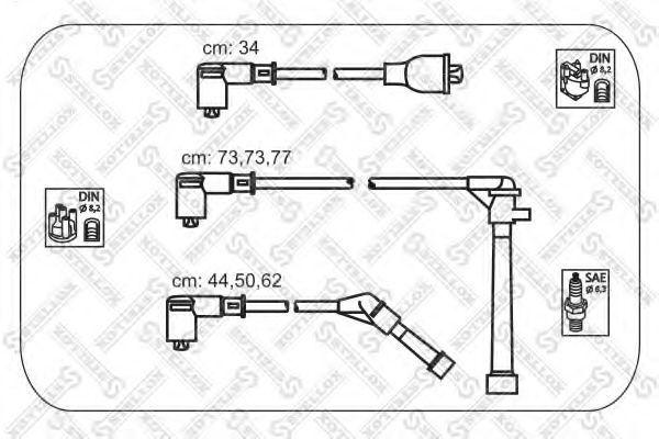 Комплект проводов зажигания Stellox 1038266SX
