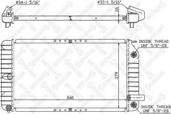 Радиатор, охлаждение двигателя Stellox 1025603SX
