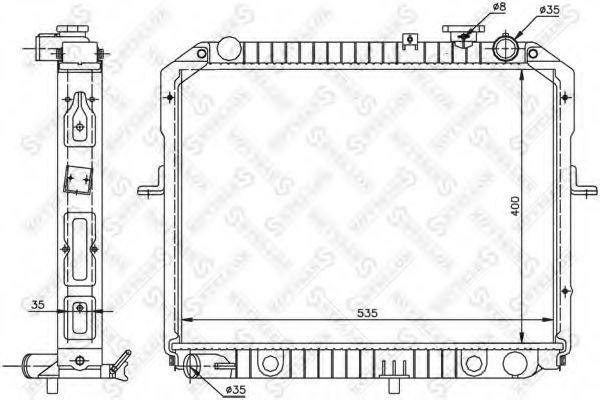 Радиатор, охлаждение двигателя Stellox 1026492SX