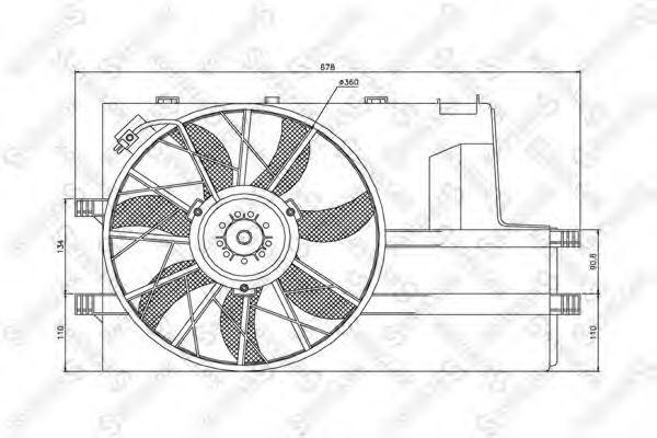 Вентилятор, охлаждение двигателя Stellox 2999068SX