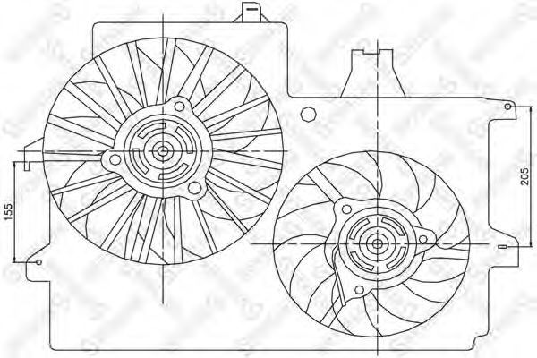 Вентилятор, охлаждение двигателя Stellox 2999100SX