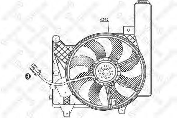 Вентилятор, охлаждение двигателя Stellox 2999102SX