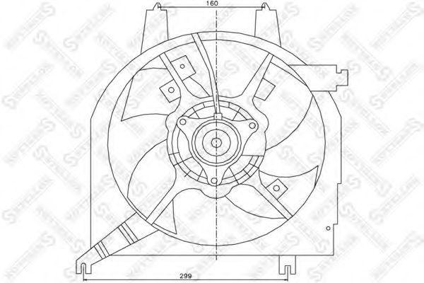 Вентилятор, охлаждение двигателя Stellox 2999143SX