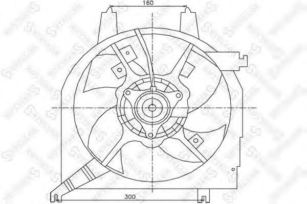 Вентилятор, охлаждение двигателя Stellox 2999144SX