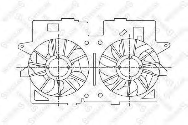 Вентилятор, охлаждение двигателя Stellox 2999162SX