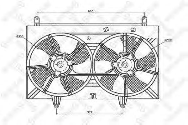 Вентилятор, охлаждение двигателя Stellox 2999230SX