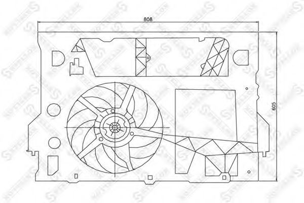 Вентилятор, охлаждение двигателя Stellox 2999289SX