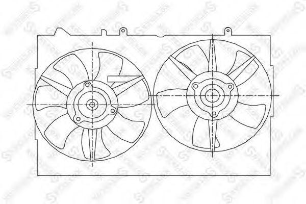 Вентилятор, охлаждение двигателя Stellox 2999382SX