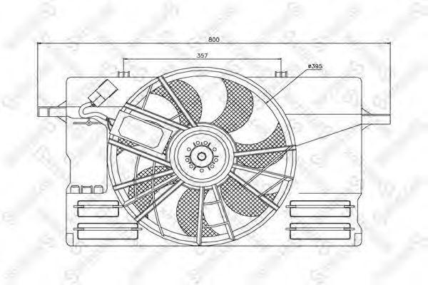 Вентилятор, охлаждение двигателя Stellox 2999417SX