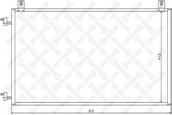 Конденсатор, кондиционер Stellox 1045260SX