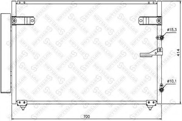 Конденсатор, кондиционер Stellox 1045275SX