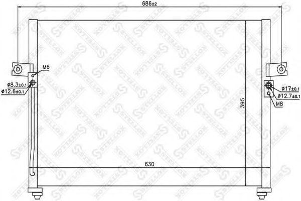 Конденсатор, кондиционер Stellox 1045437SX