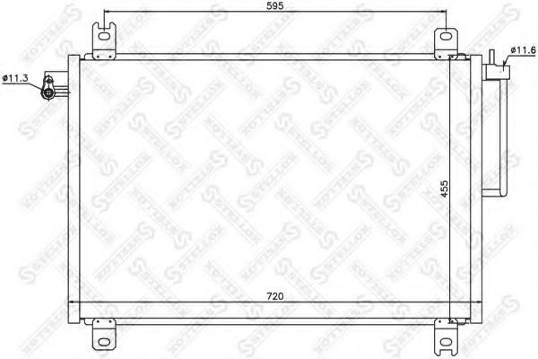 Конденсатор, кондиционер Stellox 1045680SX