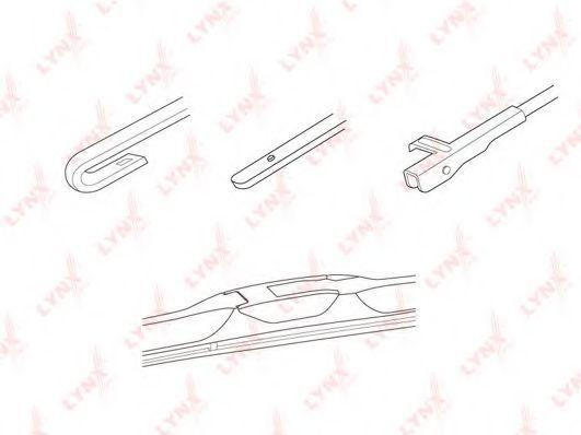 Щетка стеклоочистителя LYNXauto LX500
