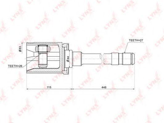 Шарнирный комплект, приводной вал LYNXauto CI1410