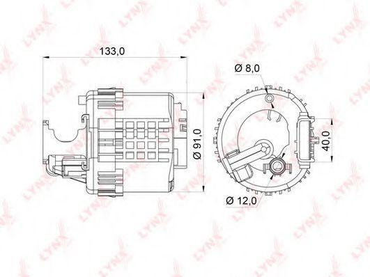 Топливный фильтр LYNXauto LF364M
