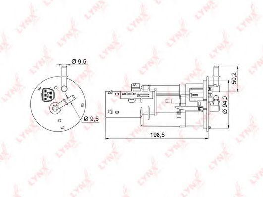 Топливный фильтр LYNXauto LF996M