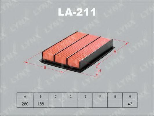Воздушный фильтр LYNXauto LA211