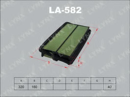 Воздушный фильтр LYNXauto LA582