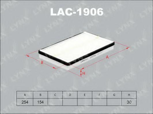 Фильтр, воздух во внутренном пространстве LYNXauto LAC1906