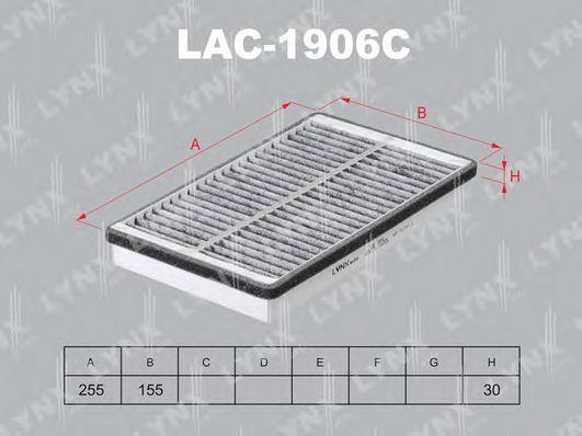 Фильтр, воздух во внутренном пространстве LYNXauto LAC1906C