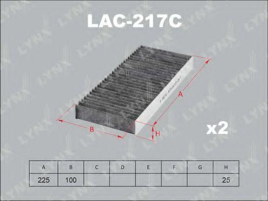 Фильтр, воздух во внутренном пространстве LYNXauto LAC217C