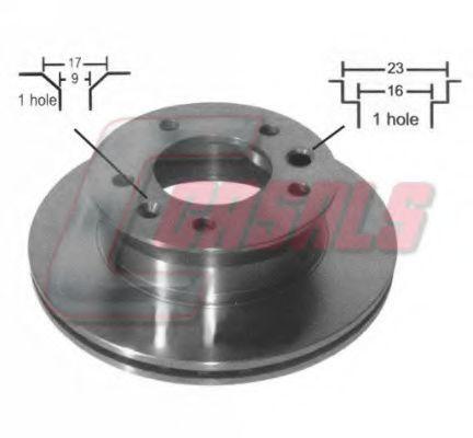 Тормозной диск CASALS 55147