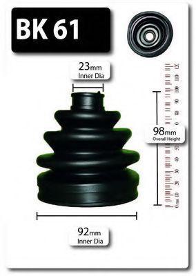 Комплект пылника, приводной вал SHAFTEC BK61