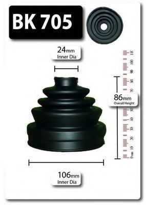 Комплект пылника, приводной вал SHAFTEC BK705