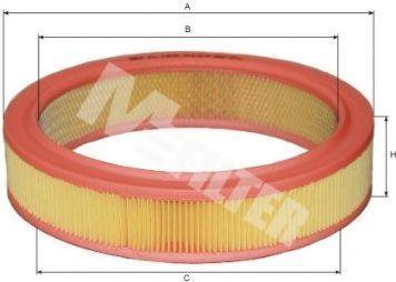 Фильтр воздушный MFILTER A123