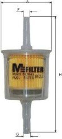 Фильтр топливный MFILTER BF02