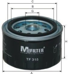 Фильтр масляный MFILTER TF315