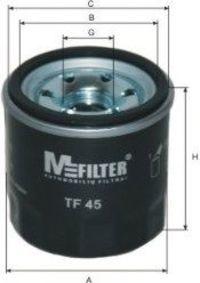 Фильтр масляный MFILTER TF45