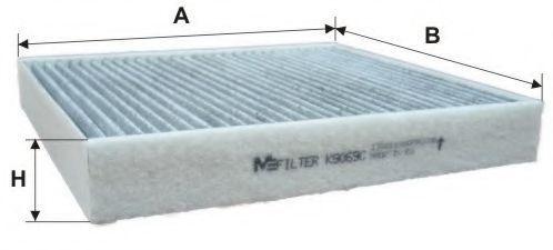 Фильтр салона угольный MFILTER K9069C