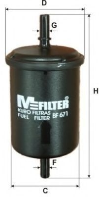 Фильтр топливный MFILTER BF671