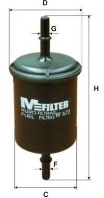 Фильтр топливный MFILTER BF672