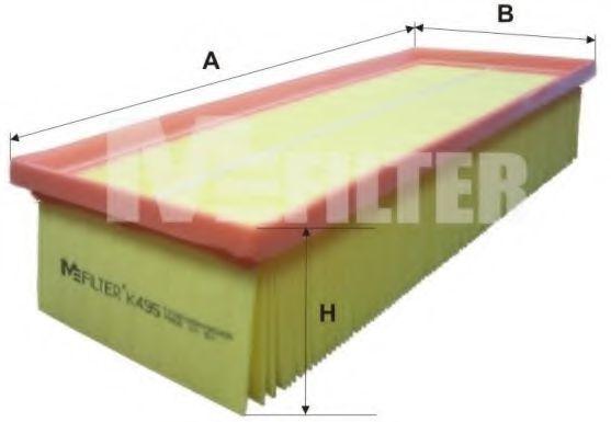 Фильтр воздушный MFILTER K495