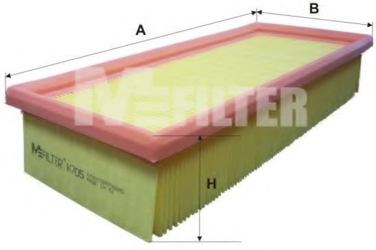 Фильтр воздушный MFILTER K 705